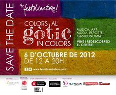 Cartell de la festa que se celebrarà el dia 6 d'Octubre al Barri #Gotic de #Barcelona #festalcentre