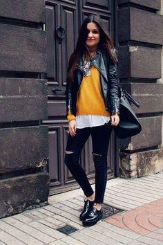 Suéter color mostaza