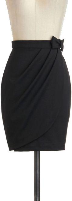 ModCloth Black Skirt: Tulip to Tango Skirt ($35)
