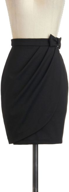 ModCloth Black Skirt: Tulip to Tango Skirt ($35)