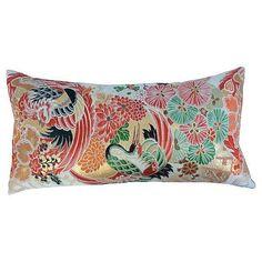 Image of Japanese Obi Metallic Pillow