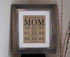 Personalized Gifts For Mom Mother Of The Bride Gift Christmas Custom Sign Home Decor