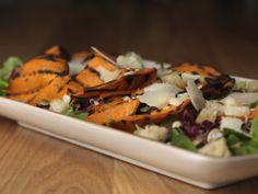 Grilled Pumpkin, Lamb's Lettuce, Radicchio, Caciocavallo di Bufala, Pumpkin Seeds and Bread Croutons.
