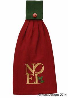 Noel Christmas Hanging Hand Towel