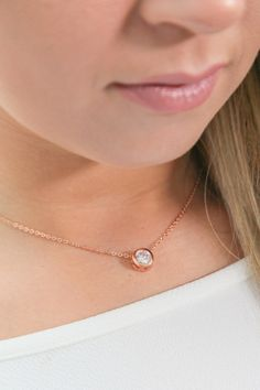 halo cubic zircon necklace $25.99