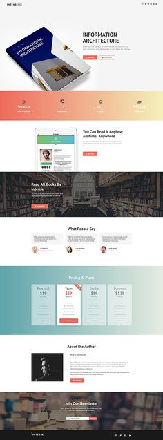 Template 61141 - Intense Book  Responsive Landing Page Template