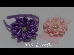 Como fazer flor de fita de cetim Diy ,Tutorial ,Pap By Iris Lima - YouTube