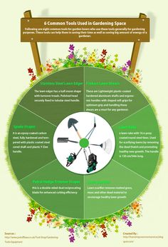 A brilliant infographic about those common #tools used in lawn improvement and #gardening space.