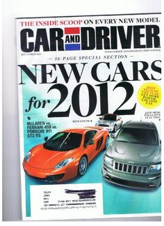 Car and Driver Magazine September 2011 New Cars « Library User Group