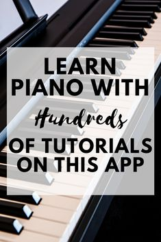You can learn all of your favorite piano songs with this awesome app. It even works for beginners!