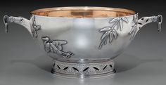 A Tiffany & Co. Japanesque Silver Bowl, New York, New York, circa Auction Bid, Tiffany And Co, Metal, Antique Silver, Art Nouveau, Tea Cups, New York, Sterling Silver, Antiques