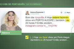 Veja erros de português de celebridades nas redes sociais - Fotos - UOL Educação