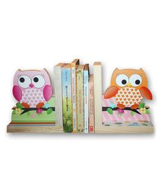 Look what I found on #zulily! Owl Bookends by Toad and Lily #zulilyfinds