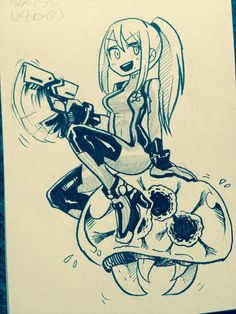 Samus and a Metroid