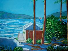 """Commission Oil Painting 36"""" x 48"""" delivered to Torch Lake for a client."""