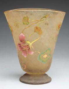 Emile Galle art glass vase.