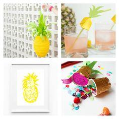 diy y manualidades para fiestas inspiradas en la Piña- 8-diy-pineapple : via MIBLOG