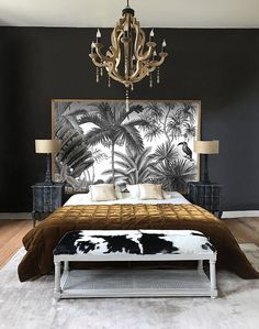 Gold Bedroom, Bedroom Wall, Master Bedroom, Hollywood Glamour Bedroom, Surf Room, Tropical Bedrooms, Guest Bedroom Decor, Bathroom Design Luxury, Living Room Colors