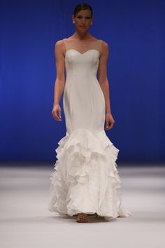 Olia Zavozinas Fall Olia Zavozinas gowns are known for possessing classic, clean lines and an heir of romance. Wedding dresses for 2014 brides Alternative Wedding Dresses, Wedding Dresses 2014, Trendy Dresses, Dress Collection, One Shoulder Wedding Dress, Groom, Gowns, Bride, Fall