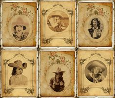 Old West style photo booth!  Cowgirl Scrapbook