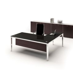 White Glass Desks Are A Modern Office Furniture Design Trend. Check Out Our  Contemporary Executive Office Desk Collection.