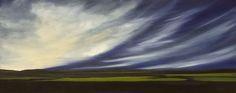 Aerial Dramatics IX, 16x40, Original Oil Painting by Mandy Main SOLD