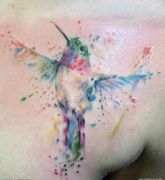 water color tattoo bird