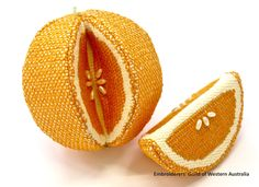 """Orange is the New Blackwork"" by Raelene Vinciullo"