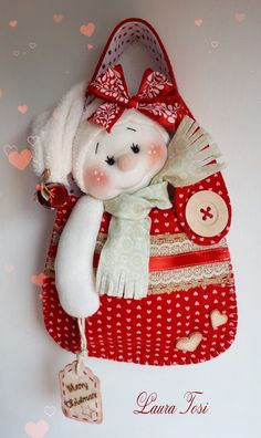 Christmas Door Decorations, Holiday Wreaths, Christmas Ornaments, Baby Crafts, Felt Crafts, Diy And Crafts, Christmas Craft Projects, Christmas Sewing, Felt Doll Patterns