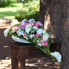Dekoracja nagrobna Nr 646 Cemetery Flowers, Gerbera, Casket, Funeral, Greenery, Floral Wreath, Wreaths, Sprays, Gardening