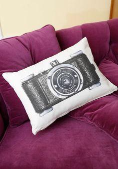 Give It a Snapshot Pillow   Mod Retro Vintage Decor Accessories   ModCloth.com