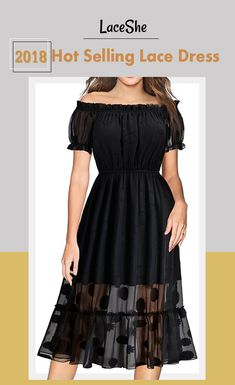 It's time to show off your shoulder and take the best now. Check this amazing off-the-shoulder lace dress at LACESHE.COM