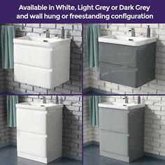 White Cabinets & Cupboards for sale | eBay Bathroom Sink Vanity Units, Vanity Wash Basin, Modern Bathroom Sink, Basin Sink, Furniture Vanity, Cabinet Furniture, Bathroom Furniture, Cupboards For Sale, Free Standing Wall