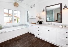 Beach Bathroom. Beach House Bathroom. Bathroom Tiling. Bathroom Tile Floor Ideas. Bathroom natural stone tiling. #Bathroom #BathroomTiling #BathroomNaturalStoneTiling