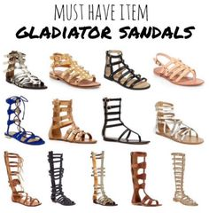 Because I love gladiator shoes!!