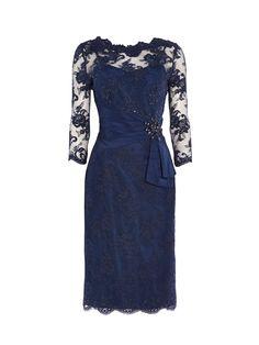 ANOUSHKA G Megan lace dress with embellishment, Blue