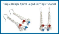 Easy Jewelry Tutorial : Dangle Earrings with Spiral Wrapped Crystals - C...
