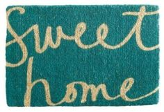 DIY sweet home doormat