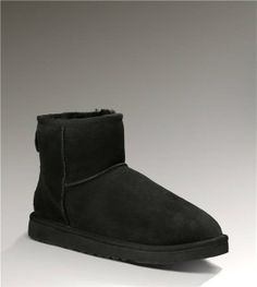 UGG Mini Classic 5854 Black Boots Free Shipping $95.00 - Ugg Boots Online Sale
