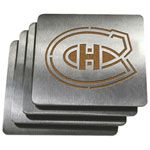 Montreal Canadiens Stainless Steel Coasters 4 Pack