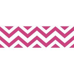 Sweet JoJo Designs Hot Pink/ Chevron Wall Border