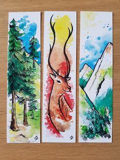 Watercolor Bookmarks, Watercolor Print, Watercolor Paintings, Watercolor Paper, Drawings Pinterest, Creative Bookmarks, Ideias Diy, Art Drawings Sketches, Art Sketchbook