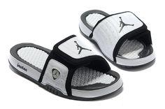 abf38663cd47 Air Jordan XIV 14 Hydro Sandals Slides Black Toe Men Sneakers