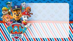 Paw Patrol Birthday Invitations, Paw Patrol Birthday Cake, Paw Patrol Party, Imprimibles Paw Patrol, Paw Patrol Stickers, School Name Labels, Superhero Party Decorations, Paw Patrol Cake Toppers, Pencil Toppers