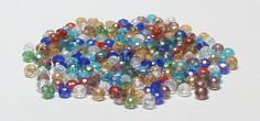 Faceted Glass Rondelle Beads in Assorted Colors with AB Finish 4 MM X 3 MM by BeadsFromHaven on Etsy