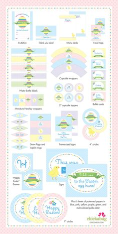 Easter Egg Hunt printable set from Chickabug - 35 pages of Easter party printables!