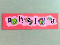 Another name sticker become bookmark
