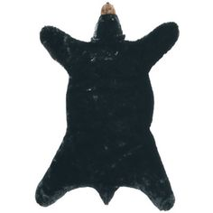 Black Bear Plush Rug by Carstens