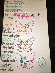 multiplying fractions using butterfly method free pinterest. Black Bedroom Furniture Sets. Home Design Ideas