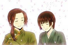 Fan Art of China and Japan for fans of Hetalia Siblings.